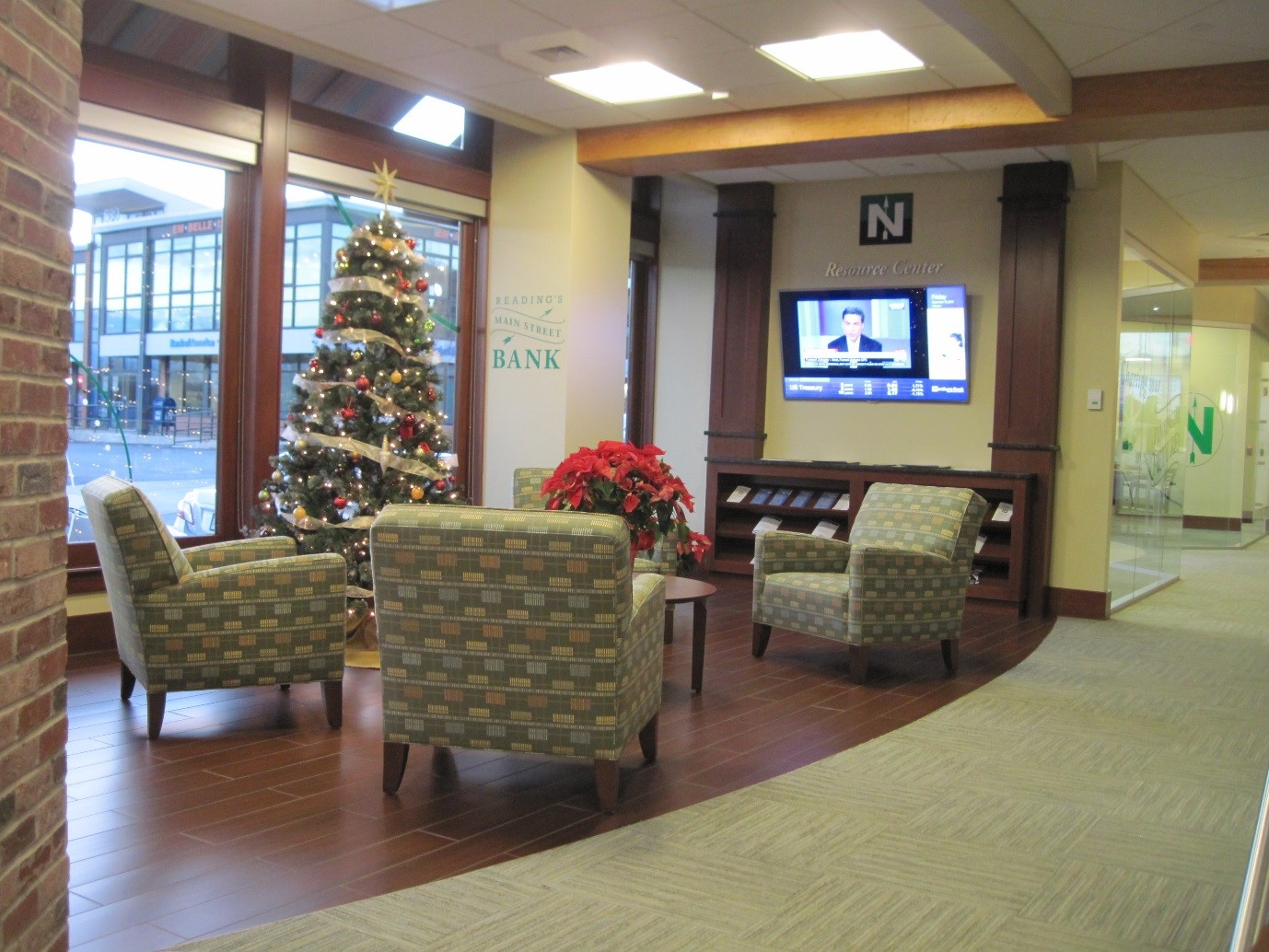 Customer Waiting, Coffee, and Media Center