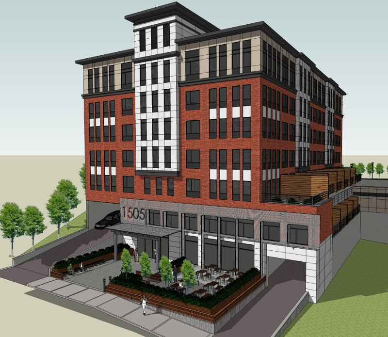 80 New Apartments slated for 1505 Commonwealth Avenue in Brighton