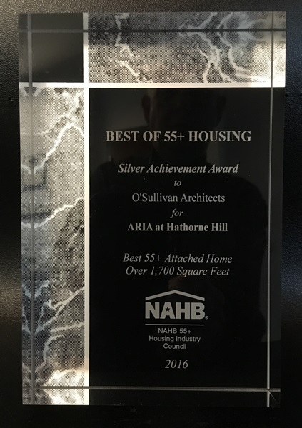Silver Award - NAHB Best of 55+ Housing - For Sale Attached Home - Over 1,700 Square Feet