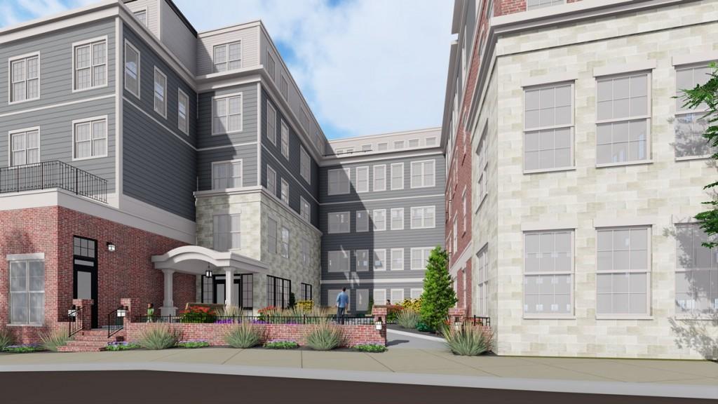 PostMark Square - Courtyard Residential Entrance - Sanborn Street