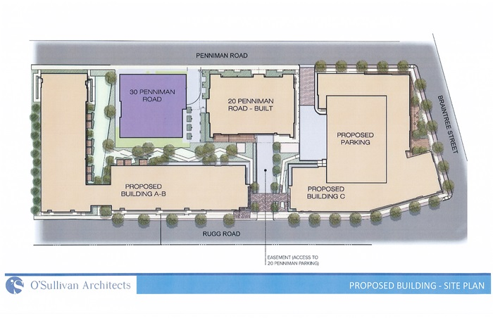 30 Penniman - Proposed Building Site Plan -