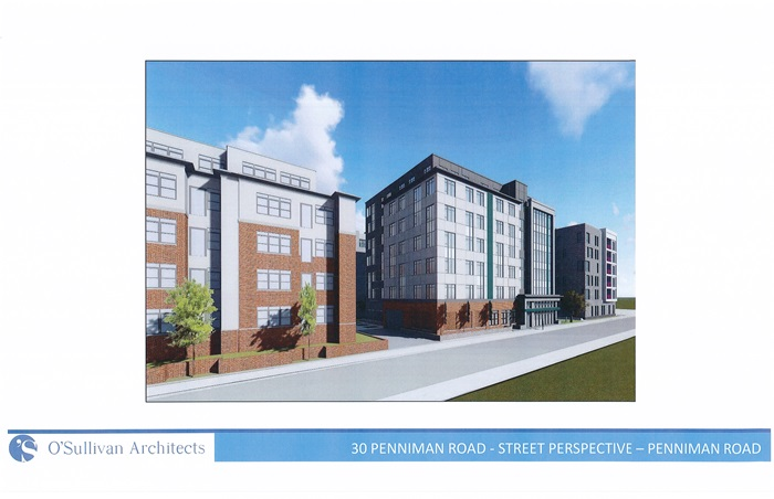 20 and 30 Penniman Road Buildings - Street Perspective -