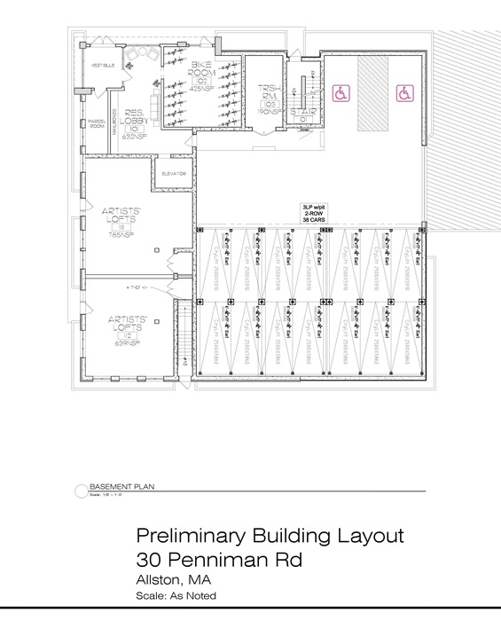 30 Penniman Road - Preliminary Building Layout - First Floor -
